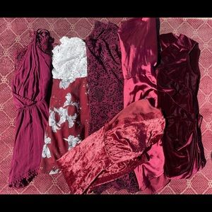 THE BURGUNDY BUNDLE (price firm no offers)